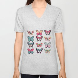 Butterflies collection 03 Unisex V-Neck