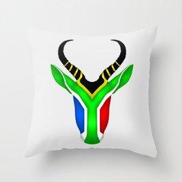 South African Springbok Throw Pillow