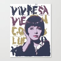 godard Canvas Prints featuring Vivre sa vie by Ruben Pino
