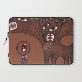 friendly monster says hello to the surreal eye Laptop Sleeve