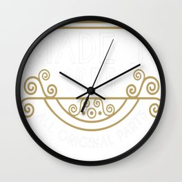 Made In 1955 All Original Parts Birthday Gift Wall Clock