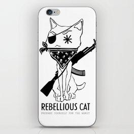 Rebellious Cat iPhone Skin