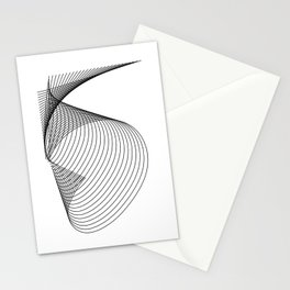 """""""Linear Collection"""" - Minimal Number Five Print Stationery Cards"""
