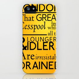 Holmesian London iPhone Case