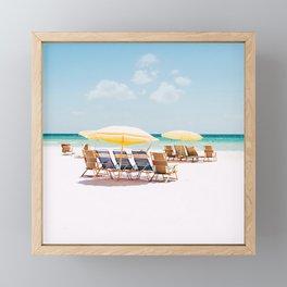 On the beach  Framed Mini Art Print