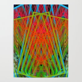 A Psychedelic Hand of Cards Poster