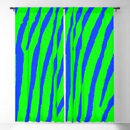 Zebra Print (Green & Blue) Blackout Curtain