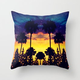 evening in Cali Throw Pillow