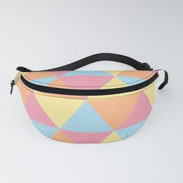 Pastel Triangles Fanny Pack