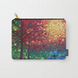 Winter sunset dot art by Mandalaole Carry-All Pouch