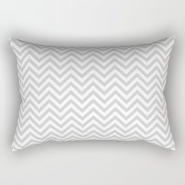 Grey Chevron Rectangular Pillow