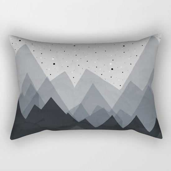 Gold in the mountains Rectangular Pillow