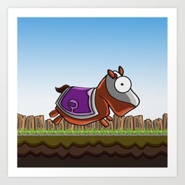 Joust It (Horsey) Art Print