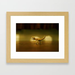 Jurassic Park Raptor  Framed Art Print