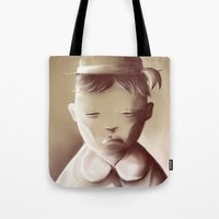 orphan black Tote Bags featuring The Orphan by Jacques Marcotte