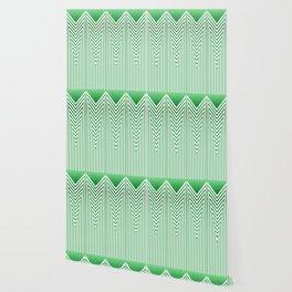 Art Deco Geometric Arrowhead Mint Green Design Wallpaper
