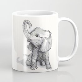 tiny elephant sitting in the corner Coffee Mug