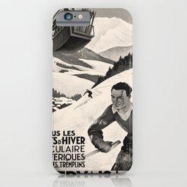 oude St Gervais Les Bains voyage poster iPhone Case