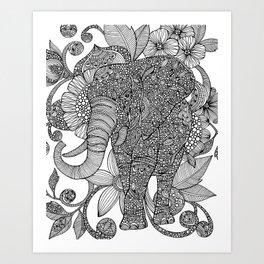 Ruby (black and white) Art Print