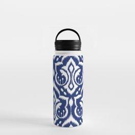 Ikat Damask Navy 2 Water Bottle