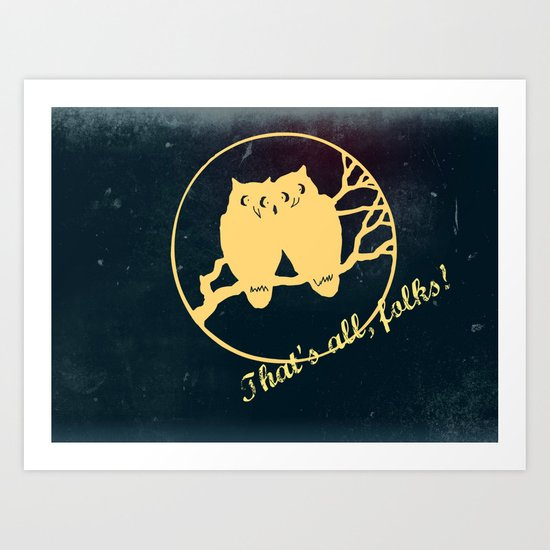 No more bad owl puns Art Print