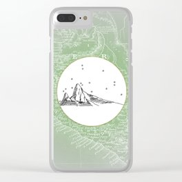 Machu Picchu, Peru, South America - Seven New Wonders Skyline Illustration Drawing Clear iPhone Case