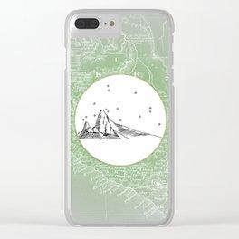 Machu Picchu, Peru, South America - Seven New Wonders Skyline Illustration Drawing Clear iPhone Case