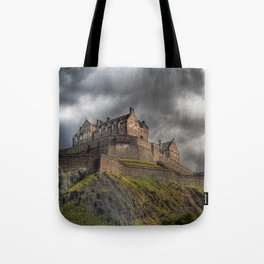 Rain Clouds Over Edinburgh Castle Tote Bag