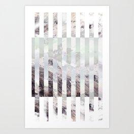 Pastel Mountain Art Print