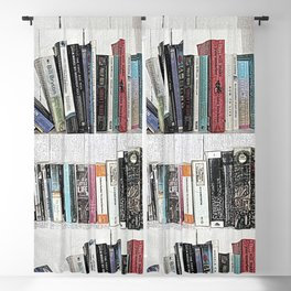 Book shelf love- we are what we read Blackout Curtain