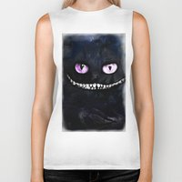 cheshire cat Biker Tanks featuring CHESHIRE by Julien Kaltnecker