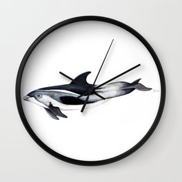 White-beaked Dolphin Wall Clock