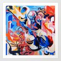 Expressive Abstract People Composition painting by catarinagarciaart