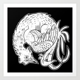 Round Rooster Art Print
