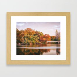 Autumn Colors Are the Best Colors - New York City Framed Art Print