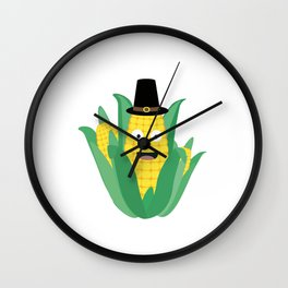 Thanksgiving Corncob Wall Clock