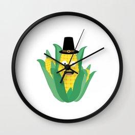 Thanksgiving Corncob Wall Clock