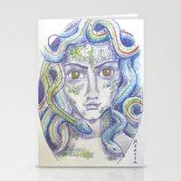 medusa Stationery Cards featuring MEDUSA by Pumpkinstrudel Studio