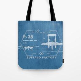 BUFFALO FACTORY P-38 Tote Bag