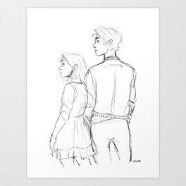 Cress and Thorne Art Print