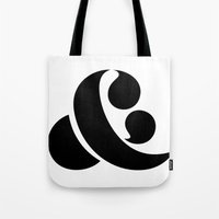 ampersand Tote Bags featuring Ampersand by Andrei Robu