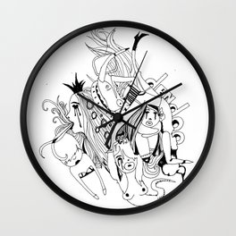 Visual Throwup Wall Clock