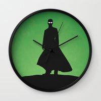 matrix Wall Clocks featuring Matrix by Nick Kemp