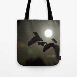 By the light of the full moon Tote Bag