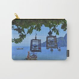 Bird Cages by the Sea Carry-All Pouch