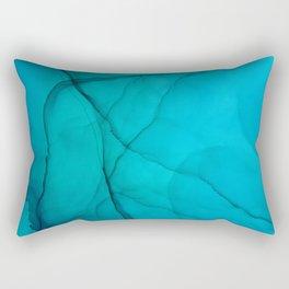 Eclipse Fluid ink abstract watercolor Rectangular Pillow