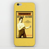 parks and recreation iPhone & iPod Skins featuring Ron Swanson  |  Steak House Parody |  Parks and Recreation by Silvio Ledbetter