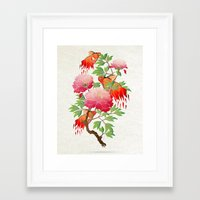 goldfish Framed Art Prints featuring goldfish by Manoou