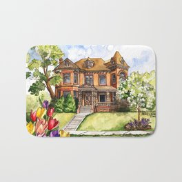 Victorian Mansion in the Spring Bath Mat