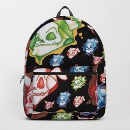 Skulls In Hoods Backpack